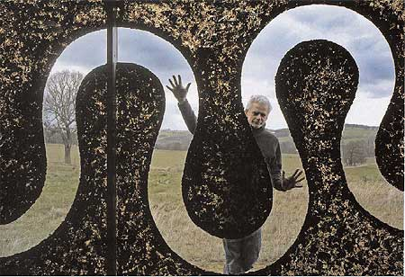 Andy Goldsworthy - Cow Dung and Glass