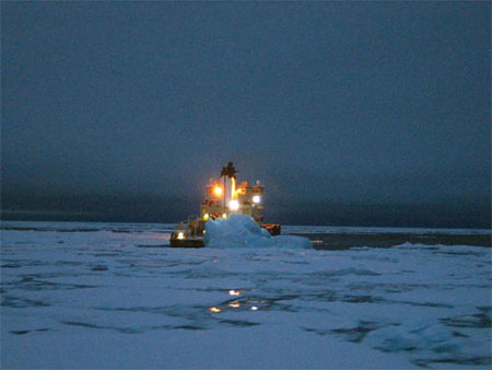 Icebreaker at Night